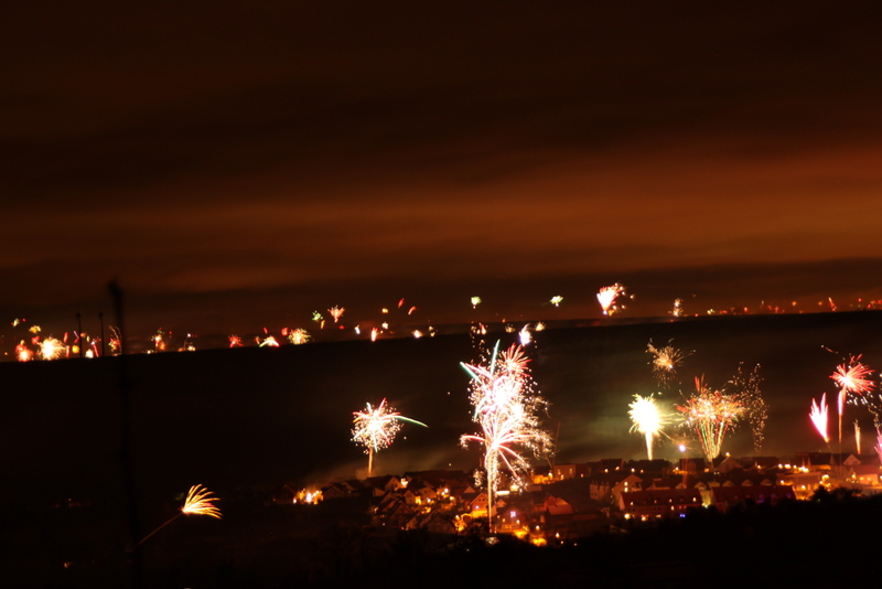 Feuerwerk über Nierstein